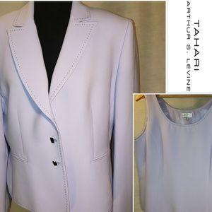Tahari ASL Pastel Purple Jacket & Sleeveless Top